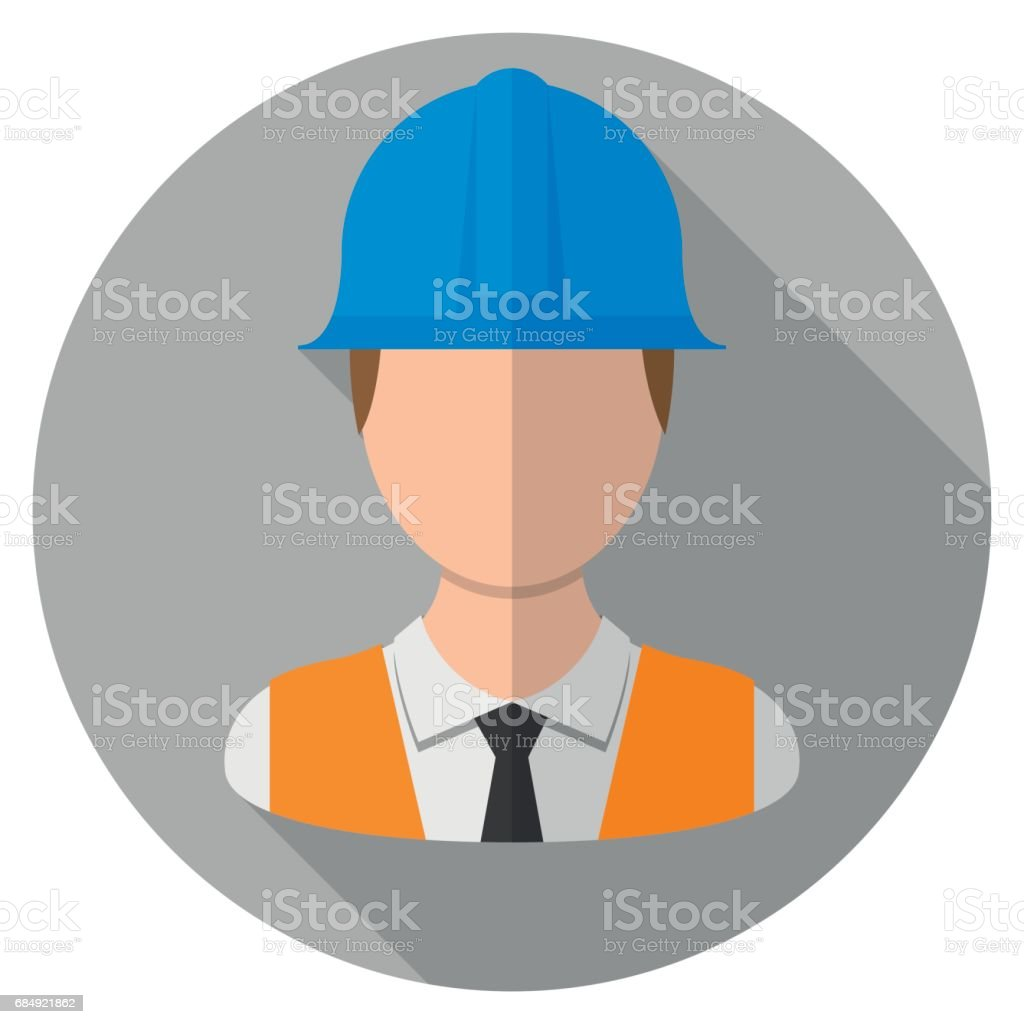 Engineer icon vector art illustration