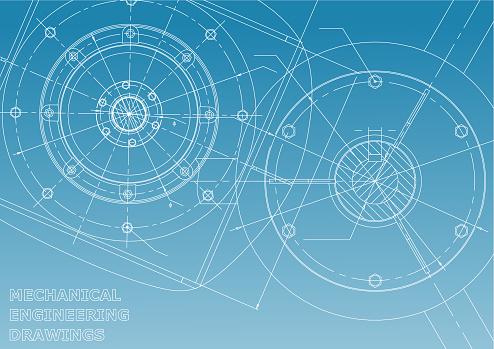 Engineering backgrounds. Mechanical engineering drawing