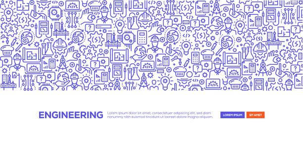 Engineering Banner Engineering Banner engineering stock illustrations