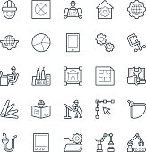 Here is a pack of  engineering Vector Icons. Express your creativity and kick start your graphic design projects with this set of vector icons.