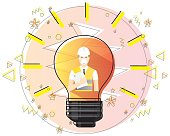 engineering creative idea concept flat vector
