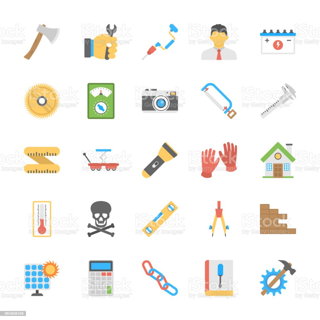 Engineering Flat Icons Set royalty-free engineering flat icons set stock vector art & more images of axe