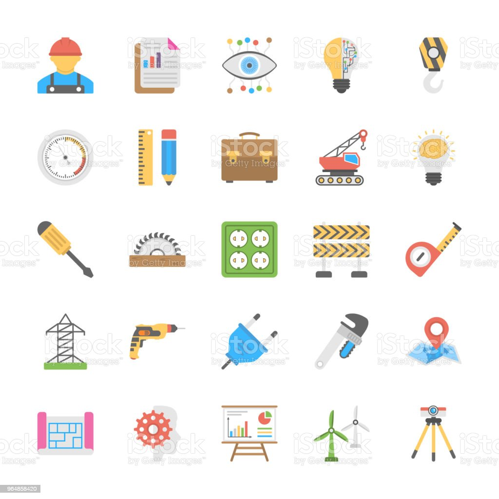 Engineering Flat Icons royalty-free engineering flat icons stock vector art & more images of adjustable wrench