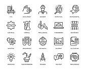 Engineering Icon Set - Thin Line Series