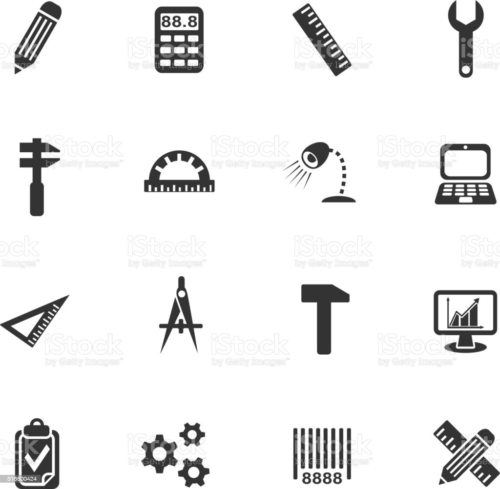 engineering icon set vector art illustration