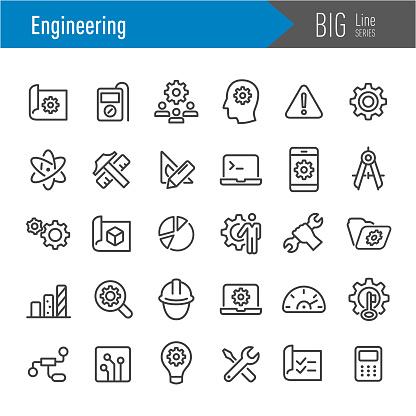 Engineering Icons - Big Line Series