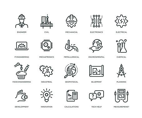 Engineering Icons - Line Series