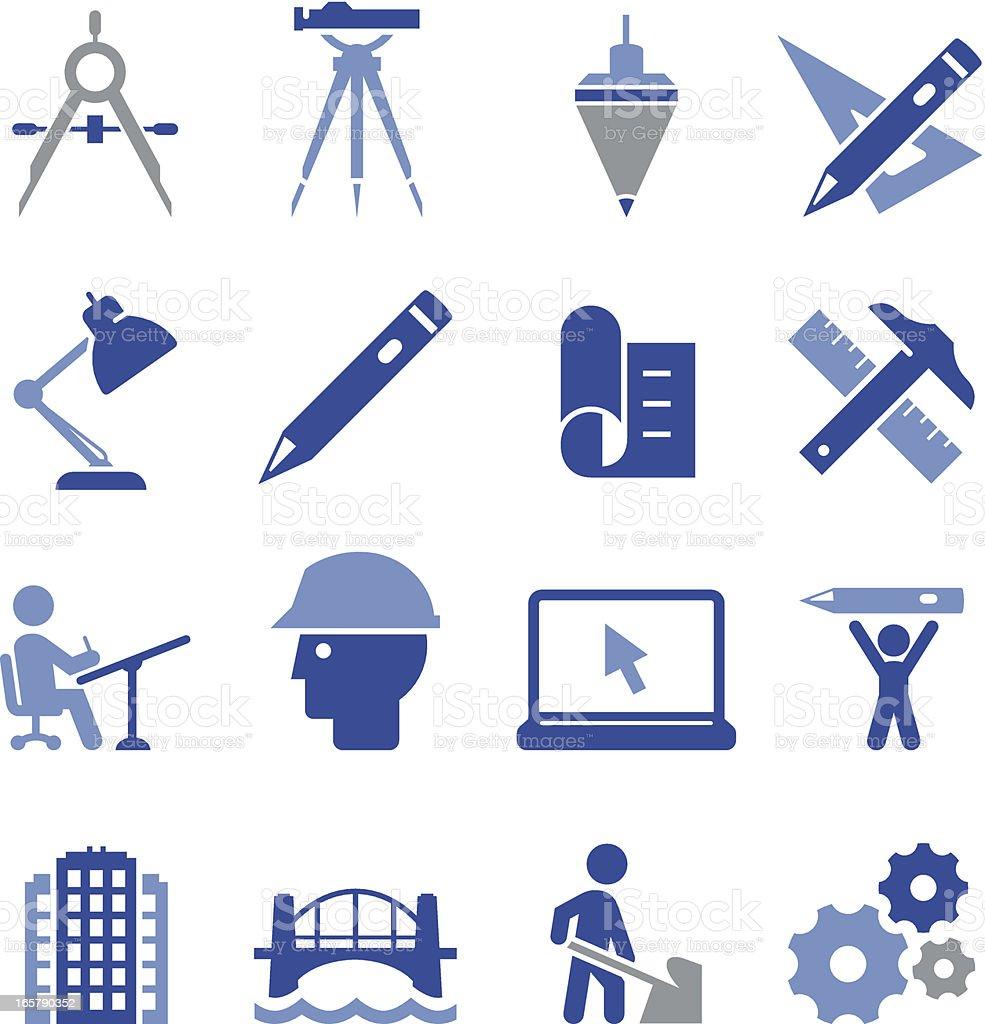 Engineering Icons de Pro série - ilustração de arte em vetor