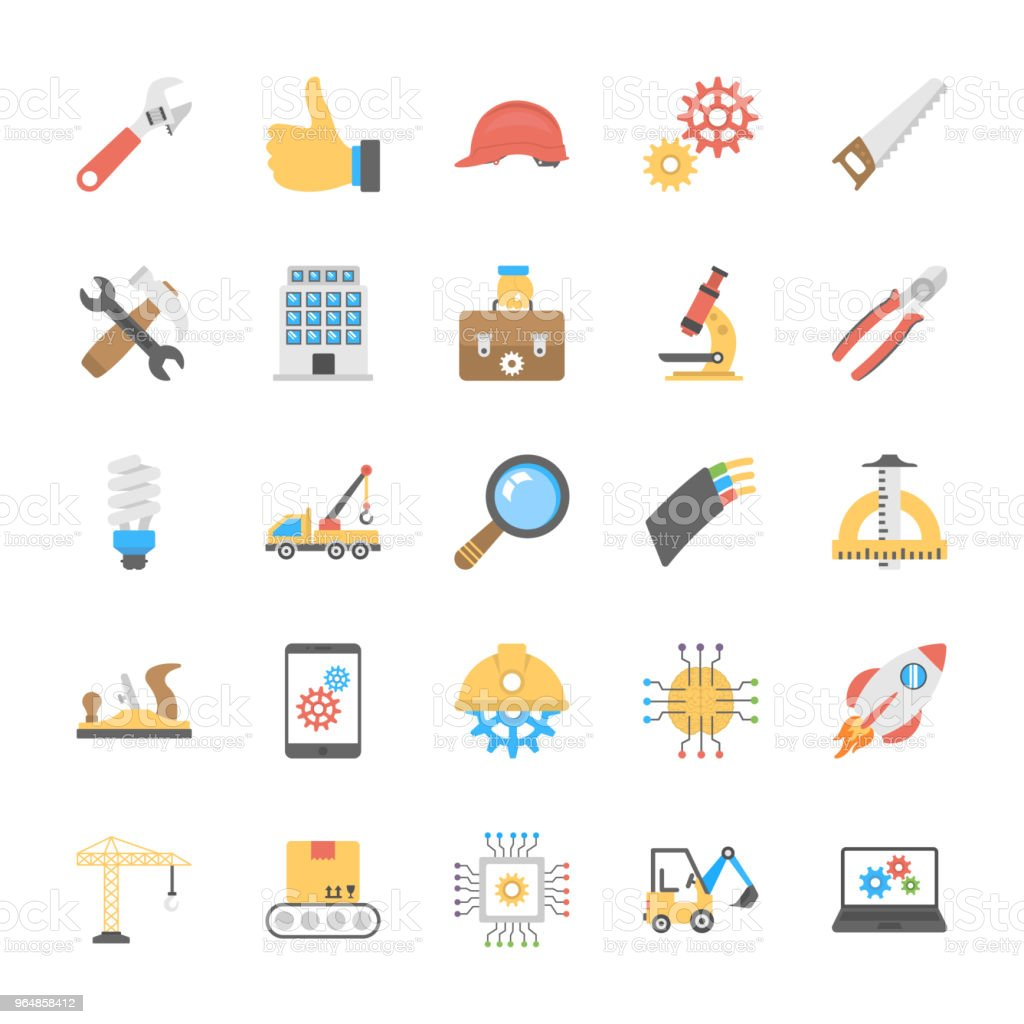Engineering Icons Set royalty-free engineering icons set stock vector art & more images of architecture