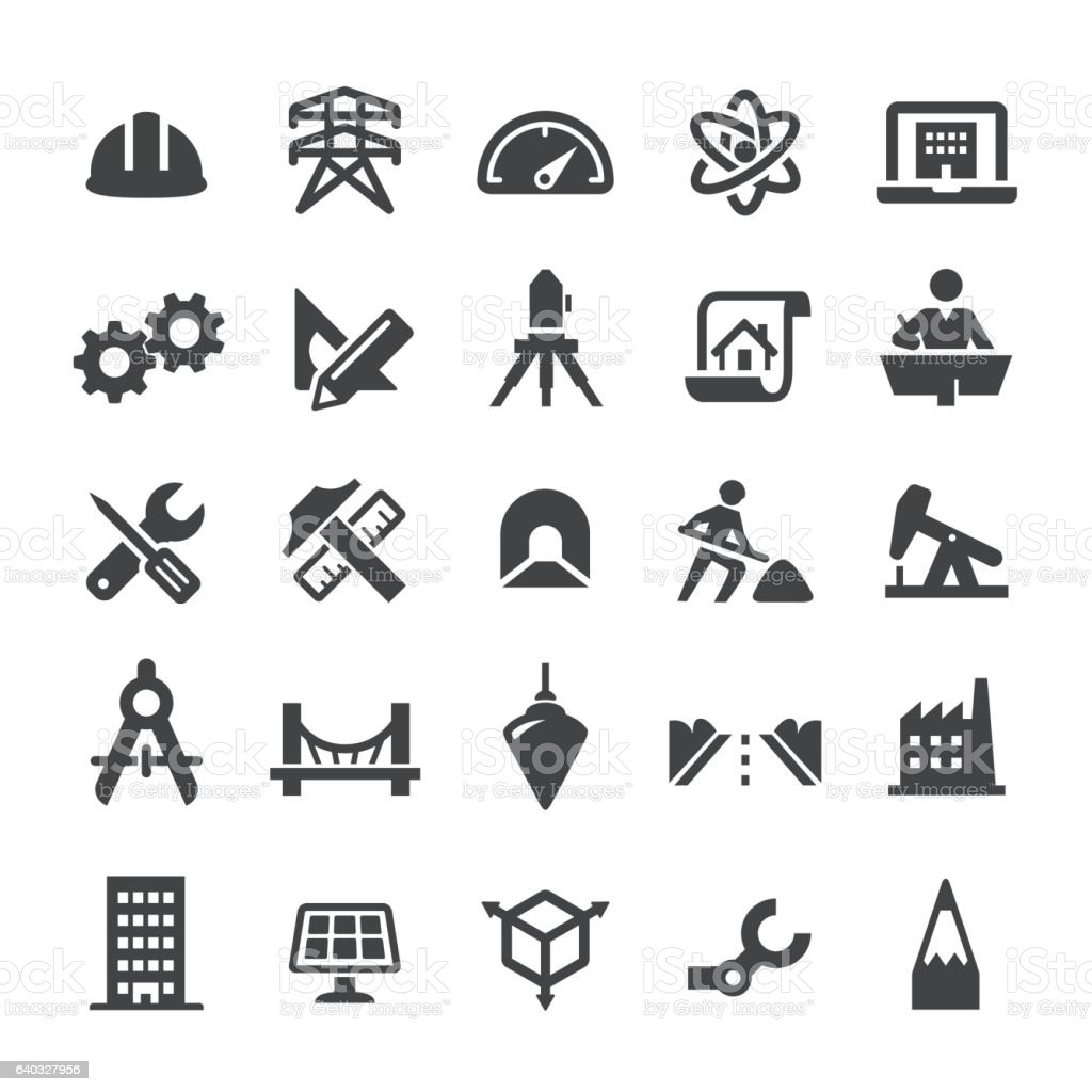 Engineering Icons - Smart Series vector art illustration