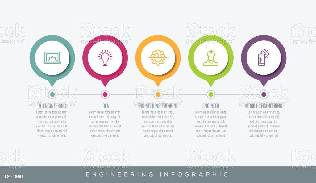 Techniques d'infographie - Illustration vectorielle