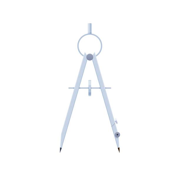 ilustrações de stock, clip art, desenhos animados e ícones de engineering instrument, working graphic tool, compass, designed for drawing circles - compasso