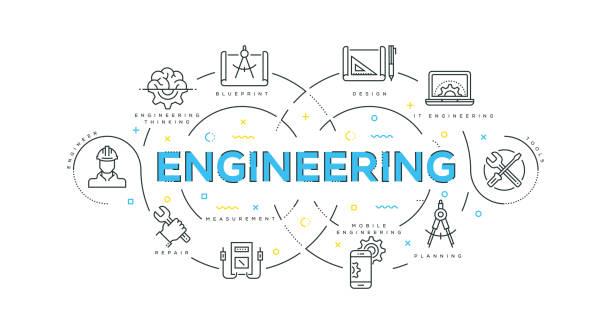 Engineering Modern Flat Design Engineering Modern Flat Design engineering stock illustrations