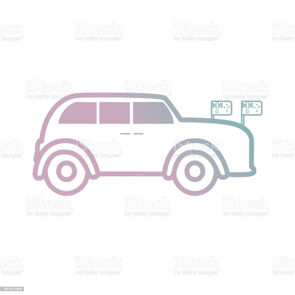 England Classic Car icon vector art illustration