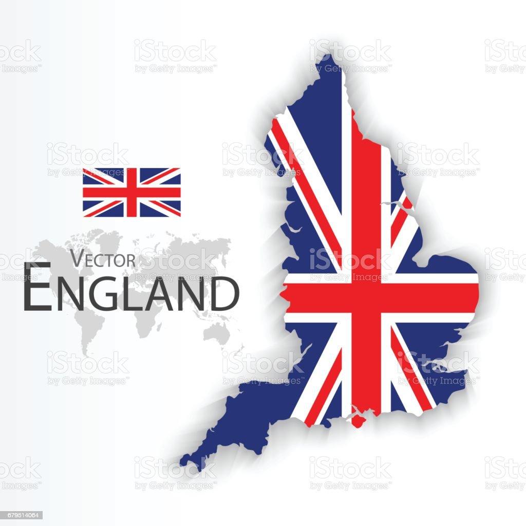 Ilustración de Inglaterra Bandera Y Mapa y más banco de imágenes de ...