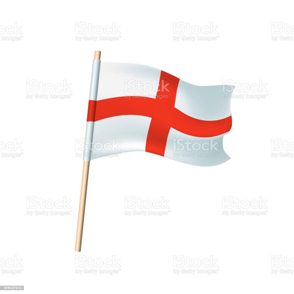 England Flagge Rotes Kreuz Auf Weißem Hintergrund Stock Vektor Art ...