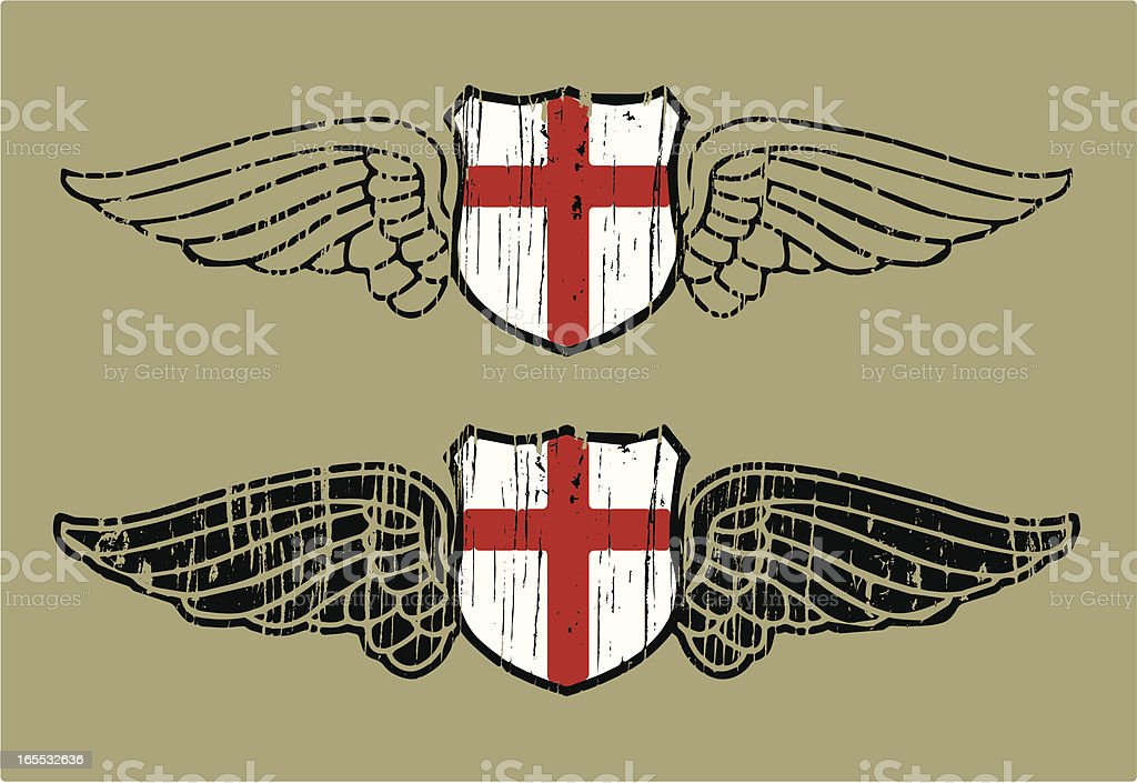 england flying shield royalty-free stock vector art