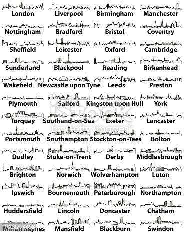 istock England major cities skylines vector collection 1002774456