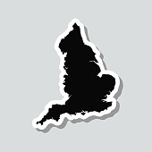 istock England map sticker on gray background 1315881078