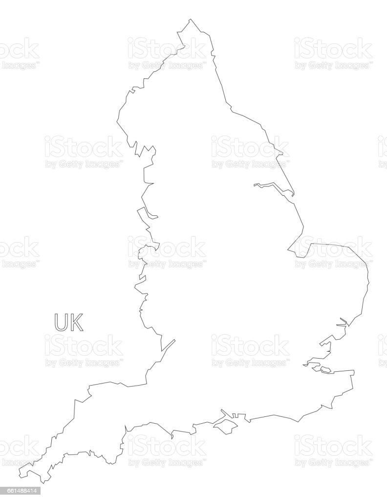 Ilustración de Ilustración De Mapa De Inglaterra Contorno Silueta y ...