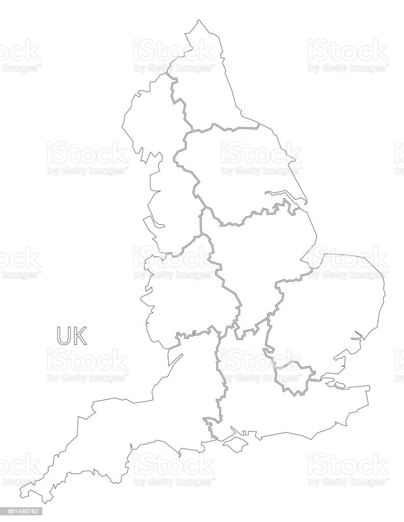 england outline silhouette map illustration with counties stock Map of England england outline silhouette map illustration with counties royalty free england outline silhouette map illustration with