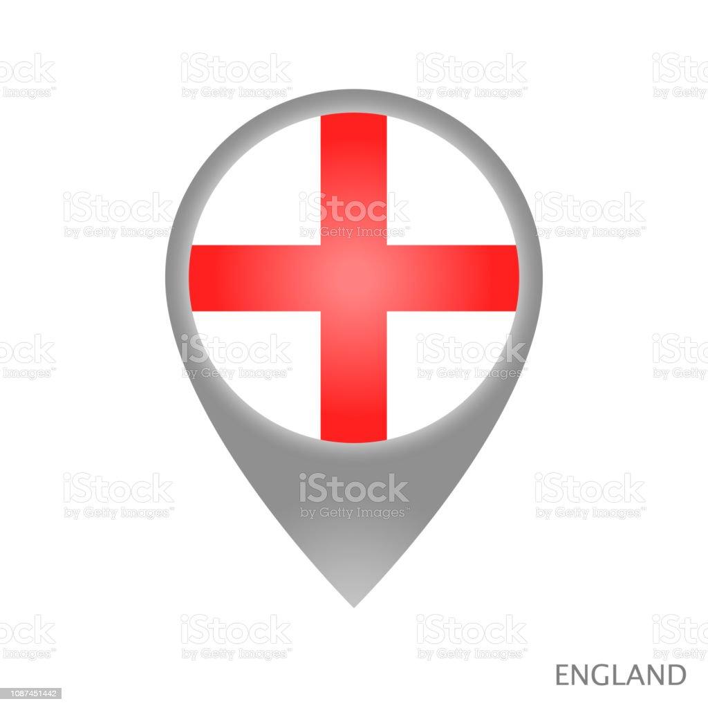 Ponto de Inglaterra - ilustração de arte em vetor