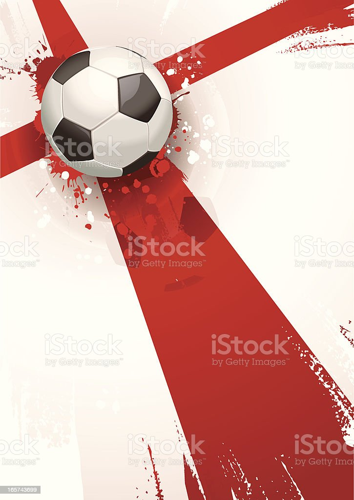 England Soccer Background royalty-free stock vector art