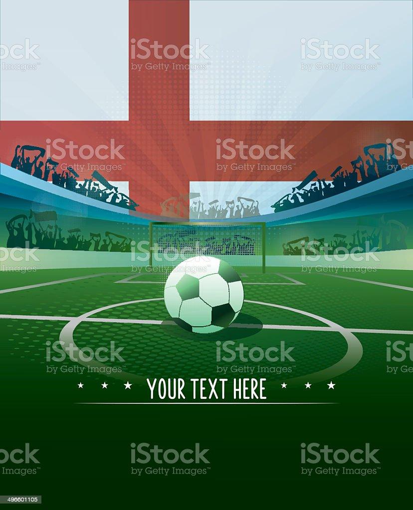 england soccer background vector art illustration