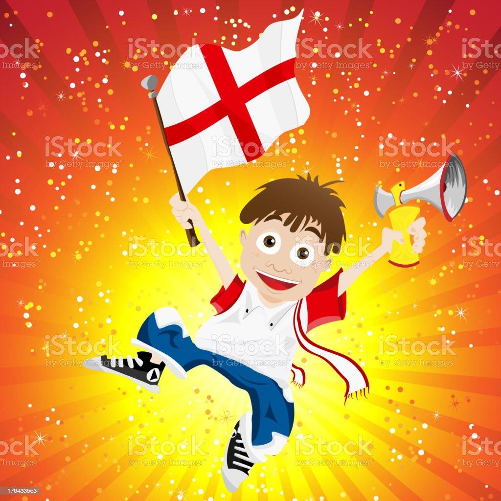 England Soccer Fan Boy royalty-free stock vector art