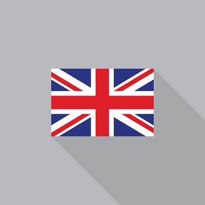 UK England United Kingdom flag flat design vector illustration
