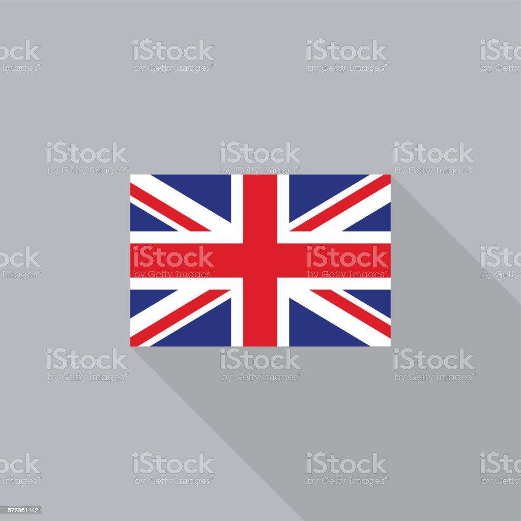 UK England United Kingdom flag flat design vector illustration vector art illustration