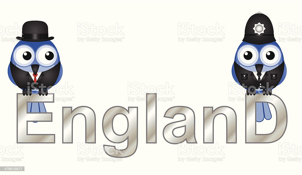 England vector art illustration