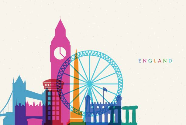 england - uk travel stock illustrations
