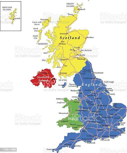 Cartina Politica Inghilterra Scozia Galles.Inghilterra Scozia Galles Irlanda Del Nord Mappa Immagini Vettoriali Stock E Altre Immagini Di Belfast Istock