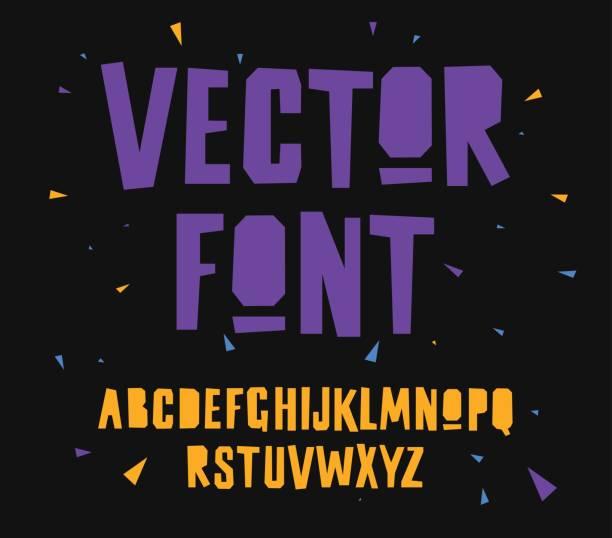 Englisches Alphabet. Elemente für das Design. – Vektorgrafik
