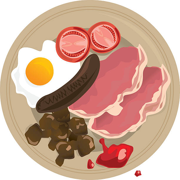 stockillustraties, clipart, cartoons en iconen met english breakfast - bargerecht