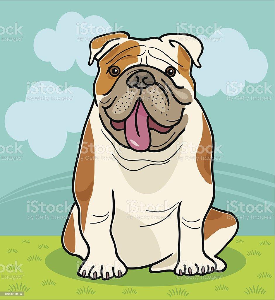 Coloriage Bouledogue Anglais.Illustration De Dessin Anime Chien Bulldog Anglais Vecteurs Libres