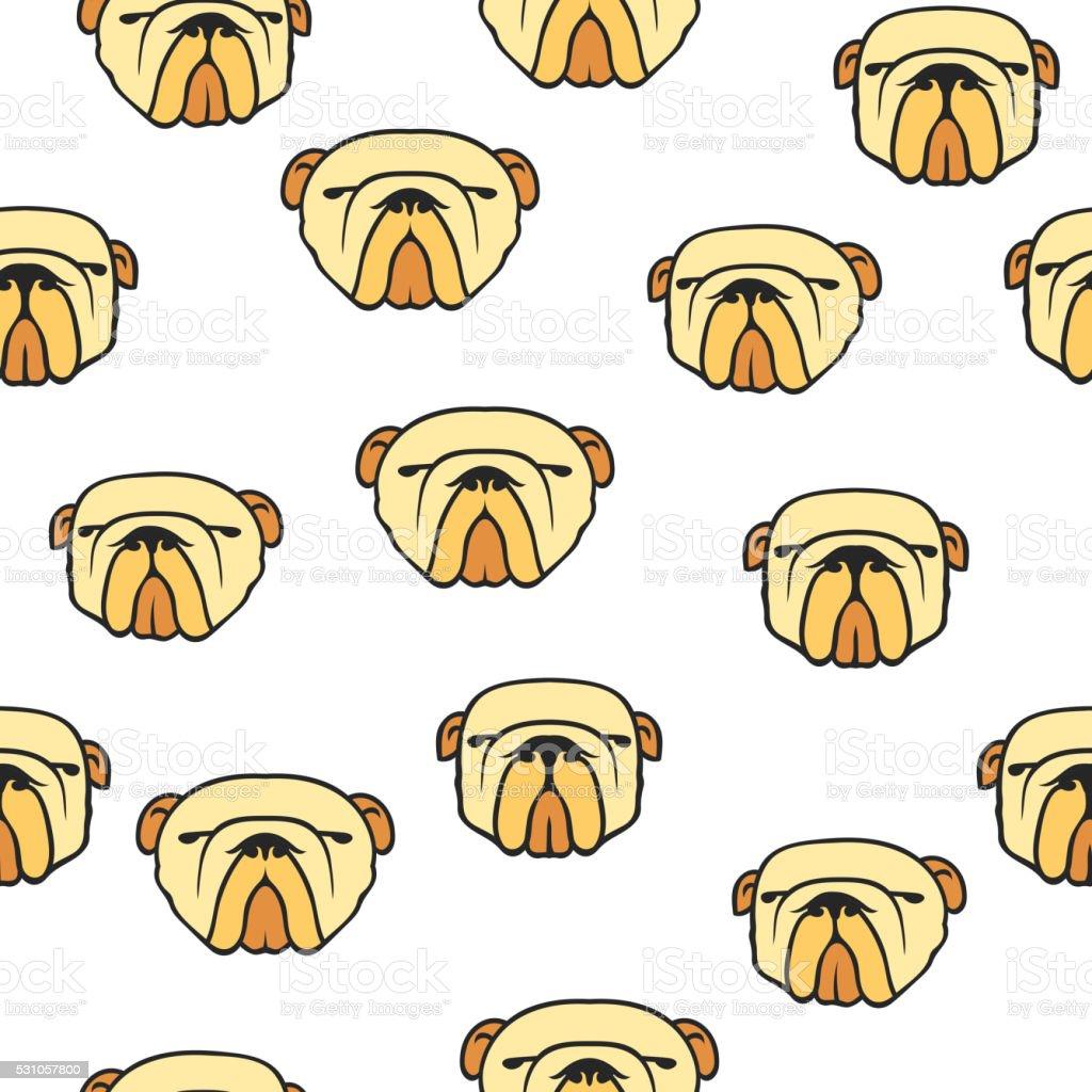 Bulldog Inglés Patrón Sin Costuras - Arte vectorial de stock y más ...