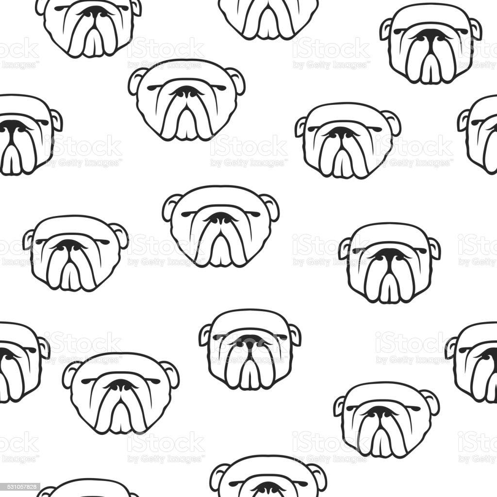 Ilustración de Bulldog Inglés Patrón Sin Costuras y más banco de ...