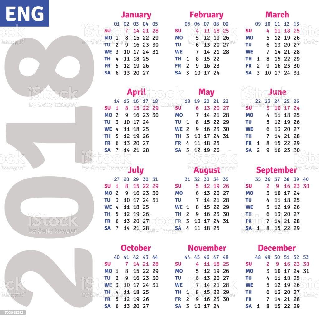English Calendar Wallpaper : English calendar stock vector art more images of