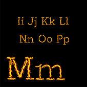 English fire alphabet second set. Vector alphabet
