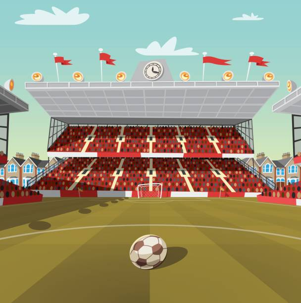 bildbanksillustrationer, clip art samt tecknat material och ikoner med engelsk fotboll stadium - sittplats