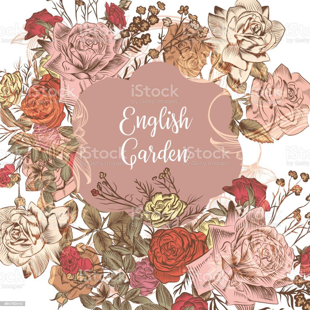 Ilustración De Invitación En Ingles O Guardar La Tarjeta De