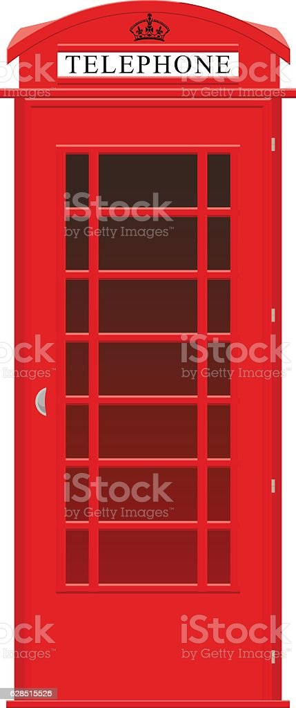 English phone booth vector art illustration