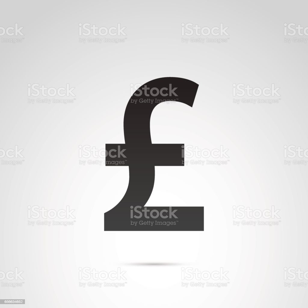 English Pound Currency Symbol Stock Vector Art More Images Of Art