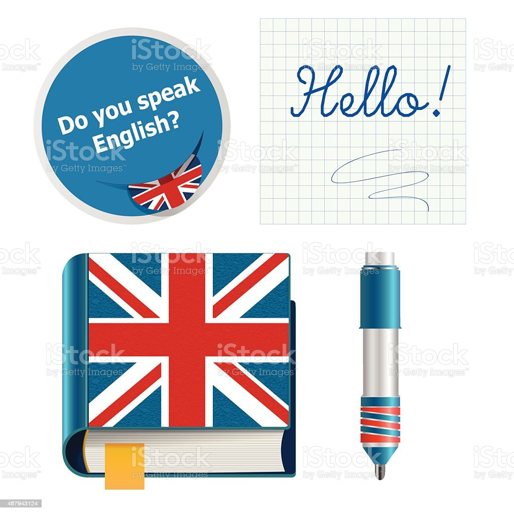 english set vector art illustration