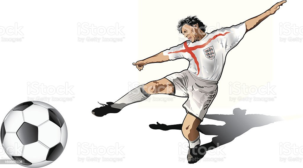 English soccer player royalty-free stock vector art