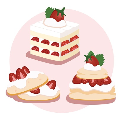 English Strawberry Shortcake and Biscuit