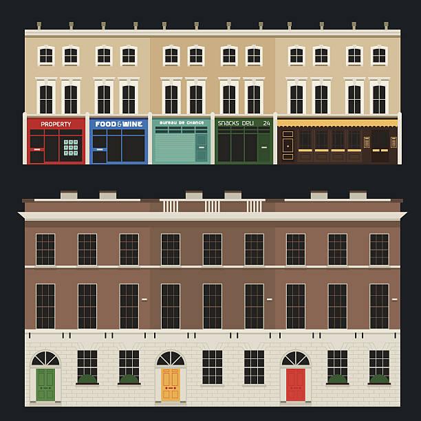 english terrasse mit - ziegelwände stock-grafiken, -clipart, -cartoons und -symbole