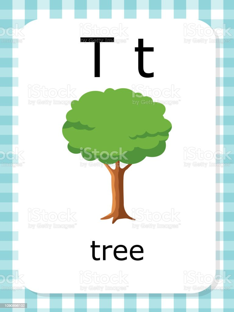 English Vocabulary Flash Card Vector For Learning And ...